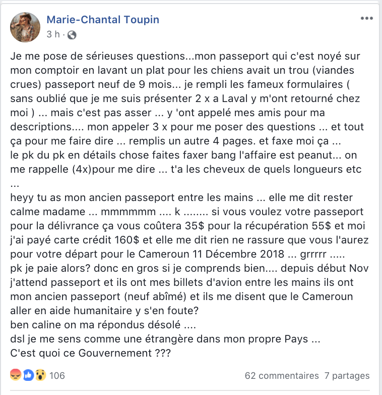 marie chantal toupin passeport